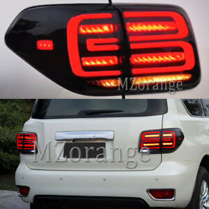 4X LED Dynamic Smoked Black Rear Tail Light Lamp for Nissan Patrol Y62 2012-2020
