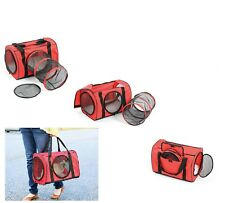 Red Large Cat Carrier Bag With Tunnel - Soft Pet Carrier For Dog & Kitty Cat