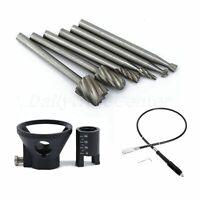 8pcs Rotary File Drill Bits & Flexible Shaft Grinder Polishing Grinding Tool Kit