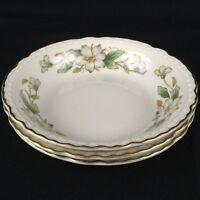 Set of 3 VTG Berry Bowls by Embassy Arlington White Blossom Vitrified China USA