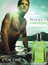 Publicité advertising 2003 Parfum Miracle Aquatonic de Lancome