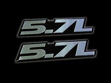 2 CHEVY 350 SMALL BLOCK 5.7L LITRE CRATE ENGINE V8 FENDER HOOD ALUMINUM EMBLEMS
