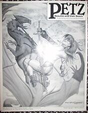 Petz Beauties & their Beasts Larson Fastner 1989 Prints