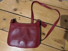 Coach Lovely Soft Red Cross Body Leather Handbag