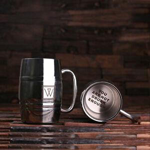 Personalised Engraved Stainless Steel Beer Stein Tankard Mug for Beer Lovers