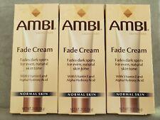 Skin Care Ambi Skincare Fade Cream, Normal Skin, 2 Oz  lot of 3 NEW Exp 7/2019