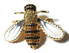 NEW Bumble Bee Brooch Rhinestone & Enamel Pin-on Brooch Fashion Jewellery Gift