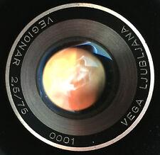 RARE! Lens Vega Lubliana Vegionar 2.5/75mm Projection NO. 0001 - FIRST lens !