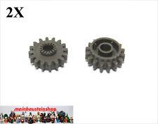 2X Lego® 6542 Technic Zahnräder Zahnrad Gear Z16 altes Dunkelgrau Dark Gray