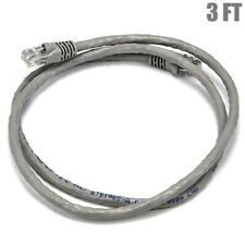 3FT Cat6 RJ45 Ethernet LAN Network UTP Crossover Cable Copper Wire 550MHz Gray