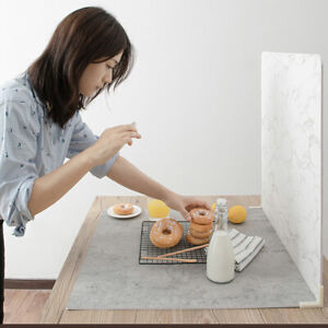 Wood Marble Cement Grain Photography Studio Backdrop Background Board For Food
