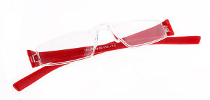 Kunststoff Lesebrille Lesehilfe EASY rot rahmenlos leicht inkl. Etui +1