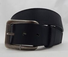 Justin New BLACK BOMBER Leather Belt  Size 44 C11743 Made in USA NWT