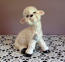Vintage Atlantic Mold Lamb Handpainted Easter Nursery Children's Room 1970's