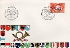 1966 SWITZERLAND COMMEMORATIVE ITU CENTENNIAL OFFICIAL CACHET UNADDRESSED FDC