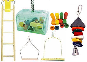 Cage Bird Swing Ladder Treasure Hunt Game Parrot Budgie Cockatiel Boredom Buster