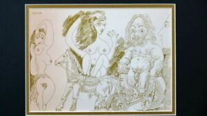 Picasso Erotic Print 1st PRINTING 1969 COA Professionally Matted & FRAMED
