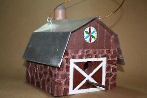 "Handcrafted Wooden ""Stone"" Barn Wren Birdhouse ""BRS 48"""