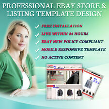 eBay Amazing Store Shop Templates, Listing Auction Mobile Responsive Templates