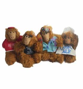 Alf Burger King Hand Puppet Plush Toy Lot of 4 Chef, Surfer, Rocker & Baseball