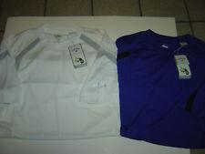 2 New Mens Callaway White-Royal S/S Crewneck Jerseys/Shirts Size L $90