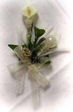 Anstecker Hochzeit Hochzeitsanstecker Gästeanstecker Bräutigam edel  mit silber