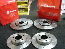 VW BORA 1.8T 1998-05 BRAKE DISC BREMBO DRILLED GROOVED BRAKE FRONT REAR 288MM