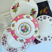 4 Bone China Floral Salad Dessert Plate Made in England Royal Albert Duchess