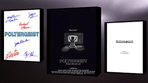 Poltergeist Script/Screenplay Movie Poster Autograph Signed Print