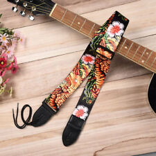 Phoenix Flower Guitar Strap Acoustic Electric Free Tracking New Bright Colorful