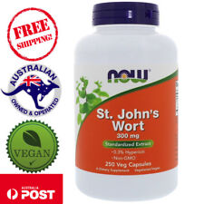 Now Foods, St. John's Wort, 300 mg, 250 Vegan Capsules - Standardized Extract