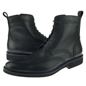 "Alex D ""Portland"" Men's Dress-Casual Wingtip Leather Boot, Black"