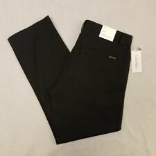 Calvin Klein Pants 34x30 Black Slim Fit Tapered Leg Flat Front Casual Mens New