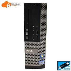 Dell Optiplex 990 SFF Desktop PC Intel i7-2600 @3.40GHz 8GB RAM 500GB HDD Win 10
