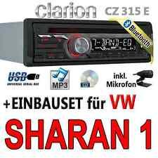 VW Sharan 1 - Clarion BLUETOOTH | USB | CD | MP3 | AUX-IN |  Autoradio Einbauset