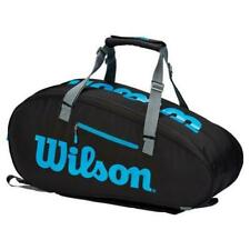 New Wilson Ultra V3 Tennis Bag fits 9 Racquets Black and Blue