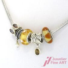 PANDORA Kette mit 5 Charms - Edelsteine und 1 Perle -925er Silber 49,1 g 49,5 cm