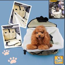 Folding Dog Travel Booster Bag Puppy Pet Car Seat Carrier Safety Belt Cover *UK*