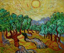 Van Gogh the Olive Trees Repro, Quality Hand Painted Oil Painting 20x24in