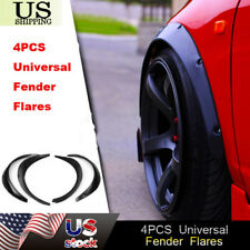 Universal Wheel Fender Flares over wide body wheel arches ABS Auto Car Kit 4pcs