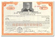 D. H. Baldwin Company Bond Certificate