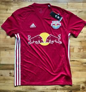 New Mens Adidas New York Red Bulls MLS Mens Soccer Jersey 2018 Away Replica Med