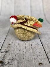 Newborn baby crochet Fisherman /fishing Hat. Photo Prop