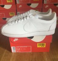 Mens Nike Cortez Leather Trainers White Size UK 10.5