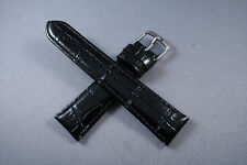 20mm BLACK  Genuine Leather Watch Band,Strap, Interchangeable, Quick Release Men