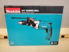 Makita Hammer Drill Torque 34in Corded Limiter Side Handle Depth Gauge Case New