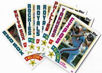 2019 Topps Series 2 Baseball 1984 Topps Baseball Rookies & All-Stars U Pick List