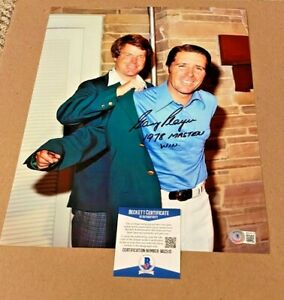 GARY PLAYER SIGNED 1978 MASTERS 11X14 PHOTO BECKETT CERTIFIED PGA #6 MASTERS