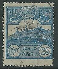 1903 SAN MARINO USATO VEDUTA 25 CENT - M5-4