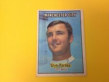 A&BC 1970/71 ORANGE BACK FOOTBALL CARD #7 GLYN PARDOE, MANCHESTER CITY.